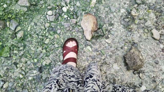 西の河原公園にてリゲッタのサンダル
